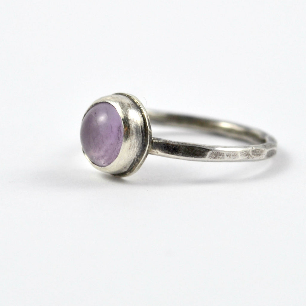 Lavender Amethyst Stacking Ring - Gemspell