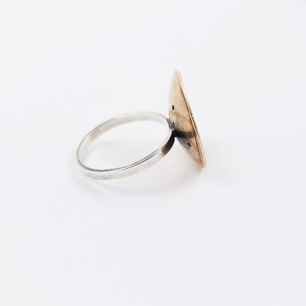 La Luna Ring in Bronze