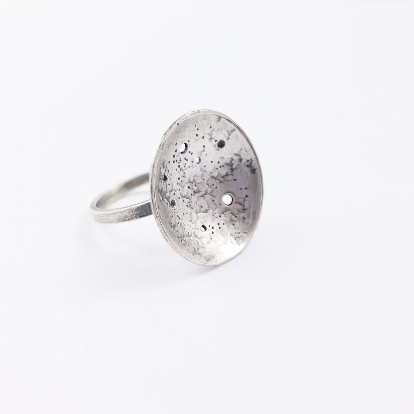 La Luna Ring in Sterling Silver - Gemspell
