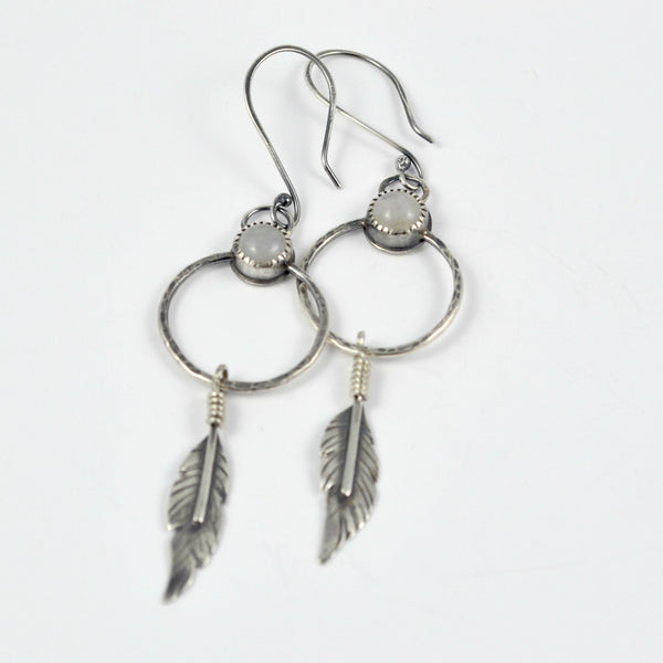Moonstone Dreamcatcher Earrings