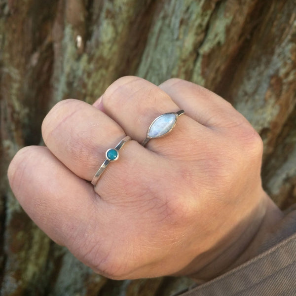East to West Moonstone Ring