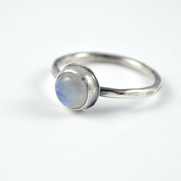 moonstone ring, stacking ring, sterling silver ring