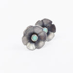 Flower Opal Studs in sterling silver