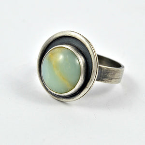 Orbit Chrysoprase Ring - Gemspell