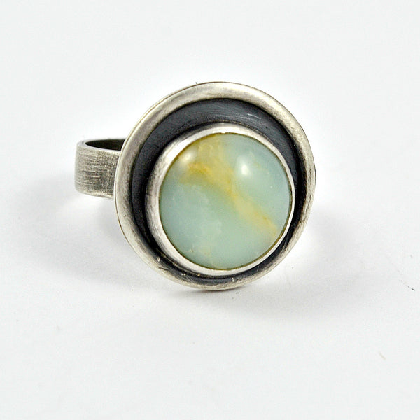 Orbit Chrysoprase Ring