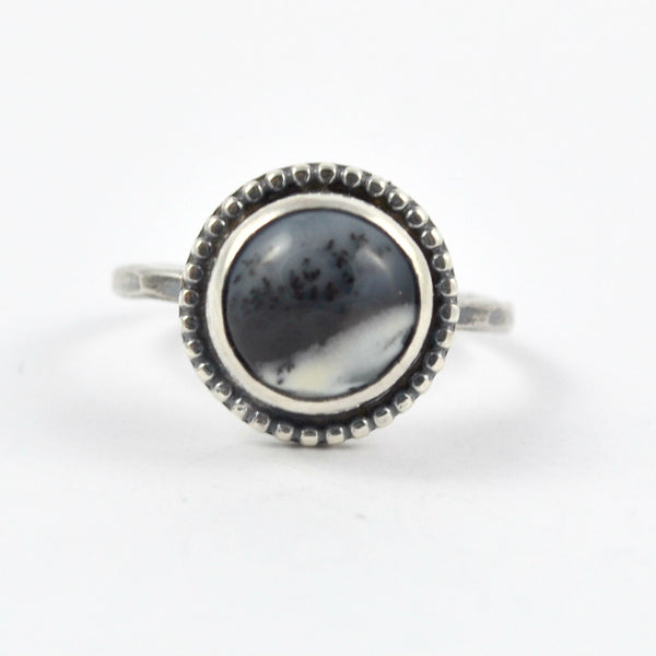 Dendrite Agate Ring, Size 7.75