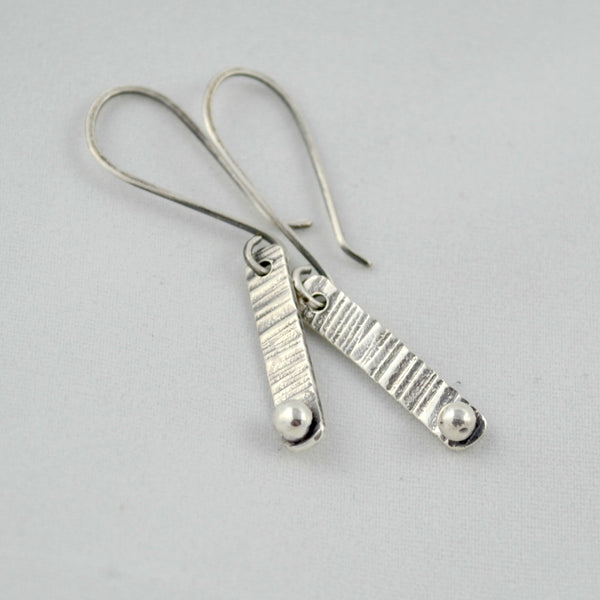 Silver Bar Earrings - Gemspell
