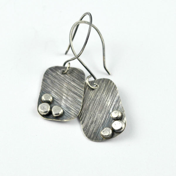 handmade artisan silver earrings