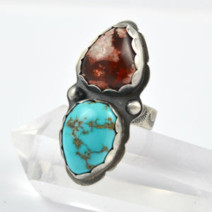 Opal And Turquoise Dual Stone Ring - Gemspell