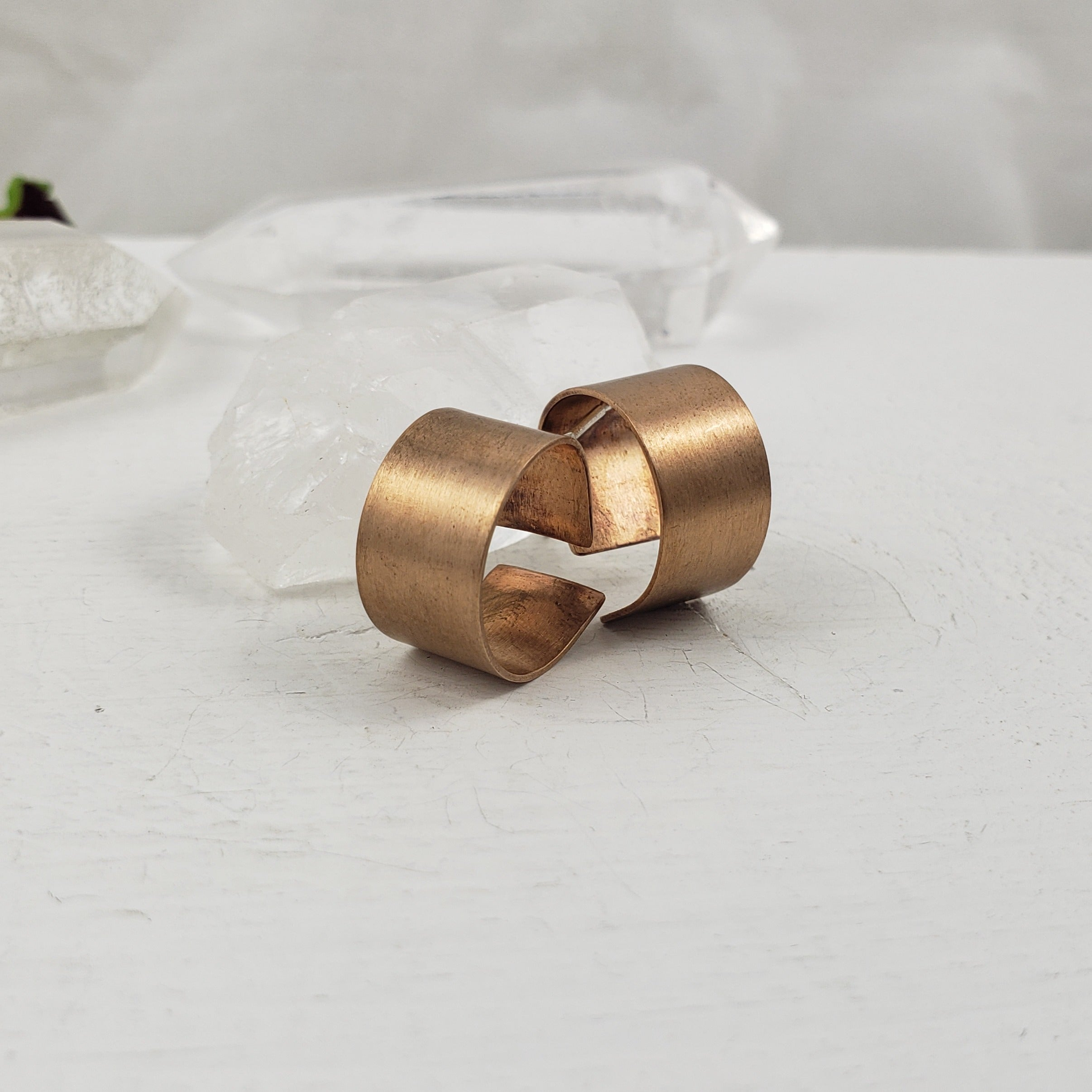 Thick Bronze Half Hoops