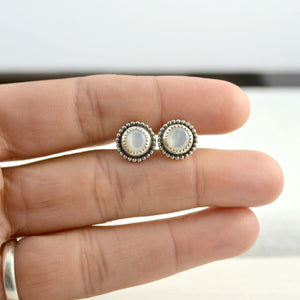 Mother of Pearl Studs - Gemspell
