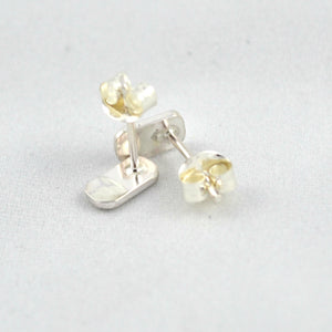 Flat Stud Earrings - Gemspell