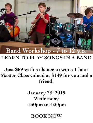 Band Workshop - ages 7 to 12 y.o. - January 2019