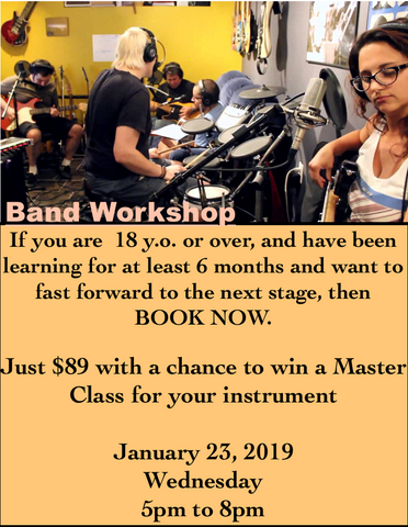 Band Workshop - 18 y.o.and over - January 2019