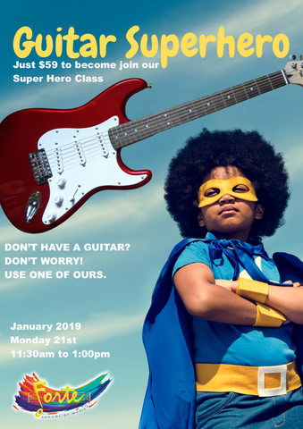 Guitar Super Hero Workshop - January 2019