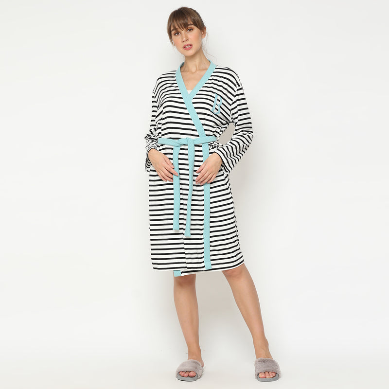 Maison Elmesa Nursing Robe - Stripe Breeze