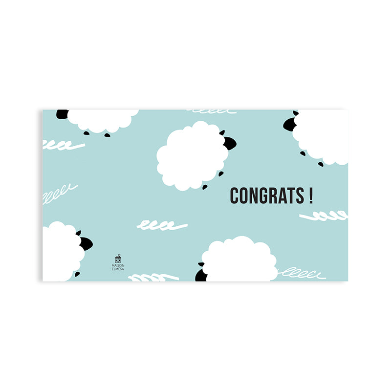 Maison Elmesa Greeting Card - Sheep