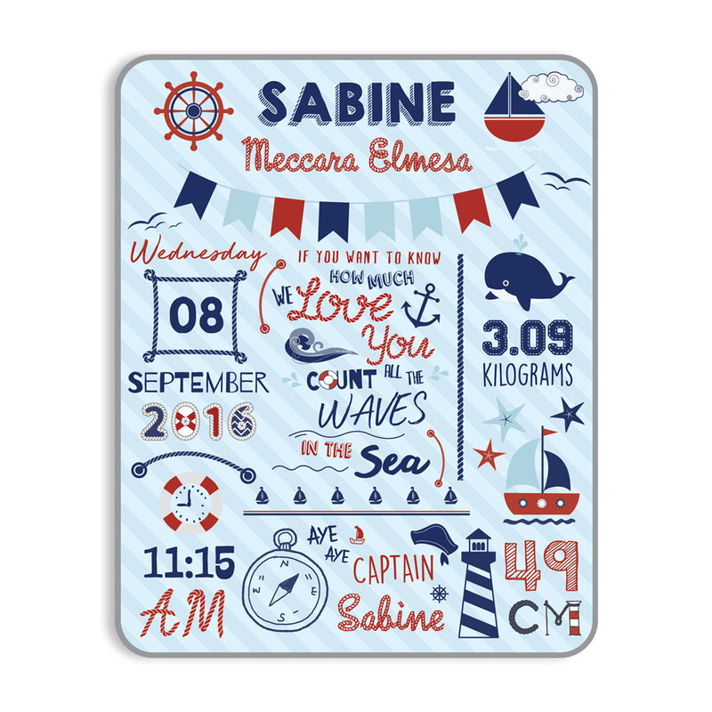 Maison Elmesa Baby Blanket - Sailor Series