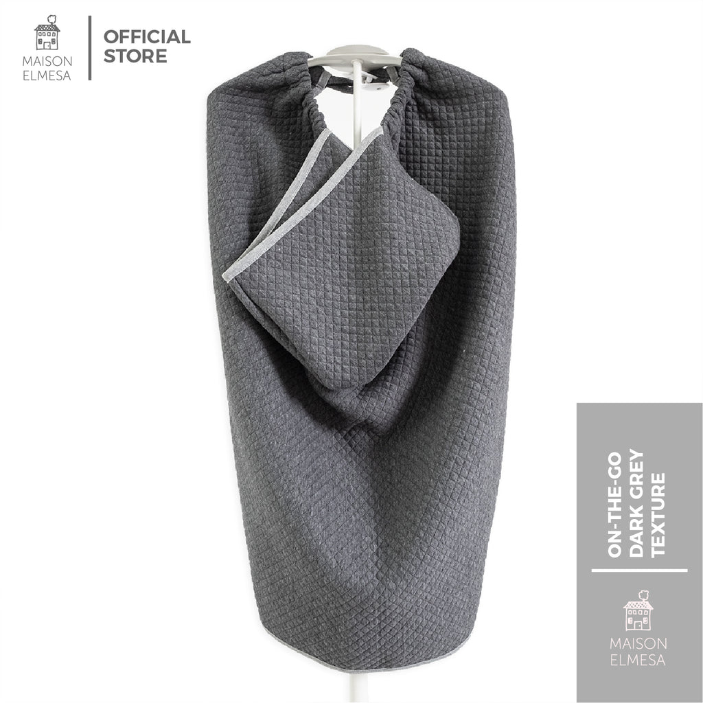 Maison Elmesa Baby Blanket On The Go - Dark Grey Texture