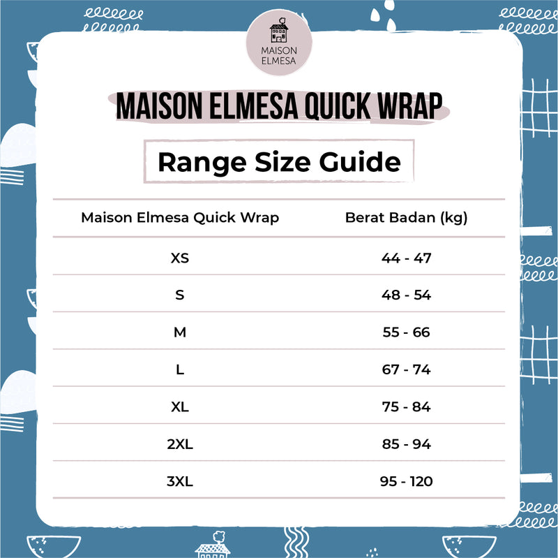 Maison Elmesa Quick Wrap - Denim