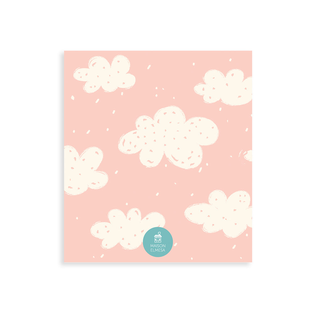 Maison Elmesa Greeting Card - Pink Cloudy