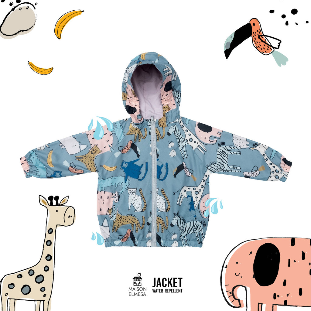 Maison Elmesa Jacket Water Repellent - Safari Blue