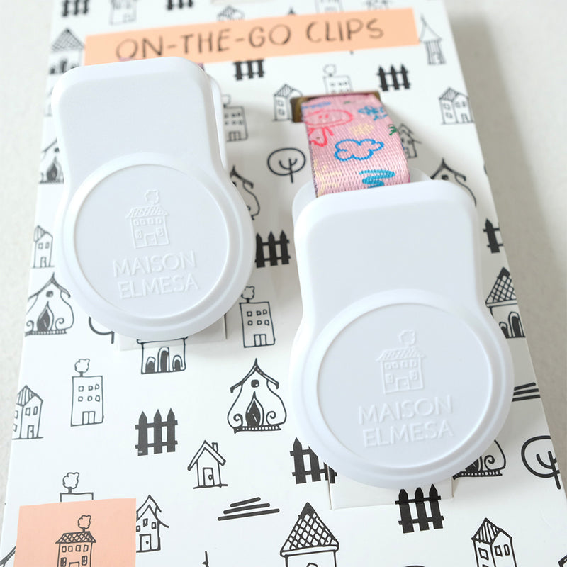 Maison Elmesa On The Go Clips White - Kids Crayon Peach Strap