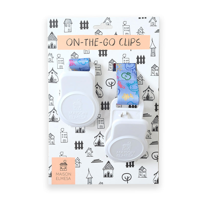 Maison Elmesa On The Go Clips White - Kids Crayon Purple Strap