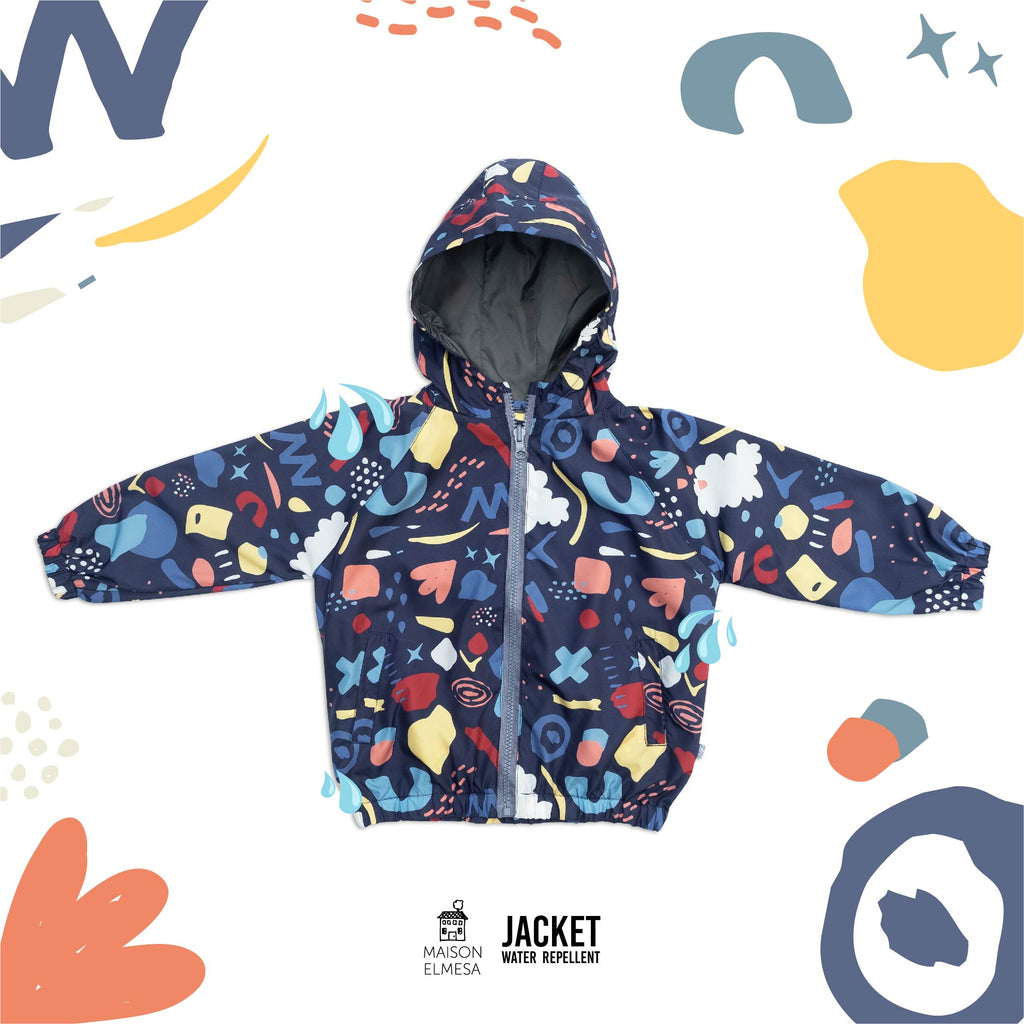 Maison Elmesa Jacket Water Repellent - Rock Candy Navy