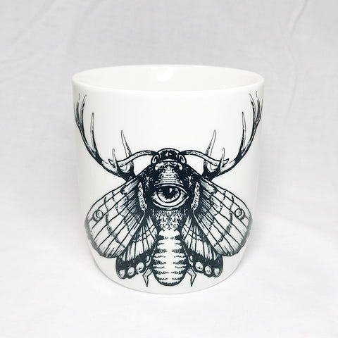 Lovely Savage White Moth Mug