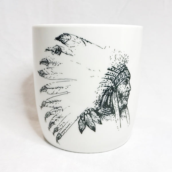 Lovely Savage White Native American Mug