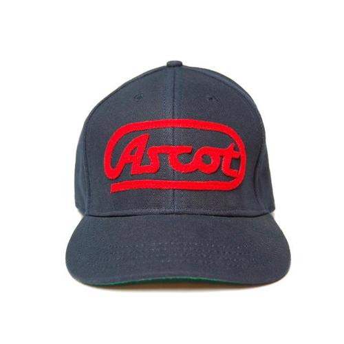 Ascot Applique Hat- Navy/Red
