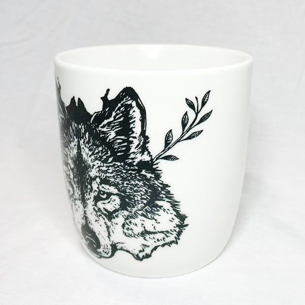 Lovely Savage White Wolf Mug