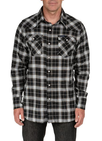 Crawford Black Plaid Western Shirt