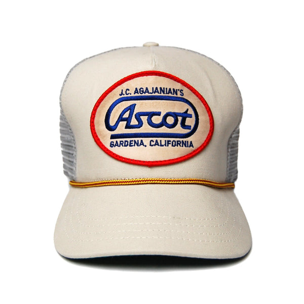 Ascot Service Trucker Hat- Bone
