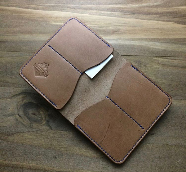 Mtn. Face Leather Folding Wallet Tan