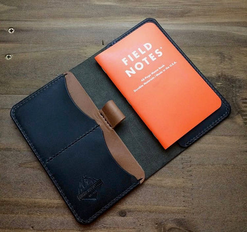 Mtn. Face Leather Notes Wallet Black