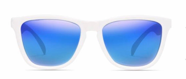 MARKDOWN: Nectar Sunglasses: Crux White/Blue Polarized