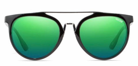 Nectar Sunlgasses: Remi Black/Green Polarized