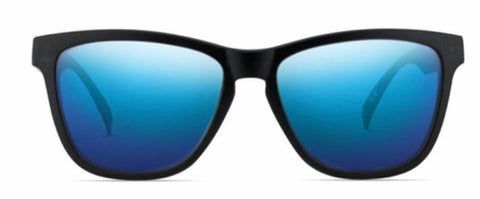Nectar Sunglasses: Crux Black/Blue Polarized