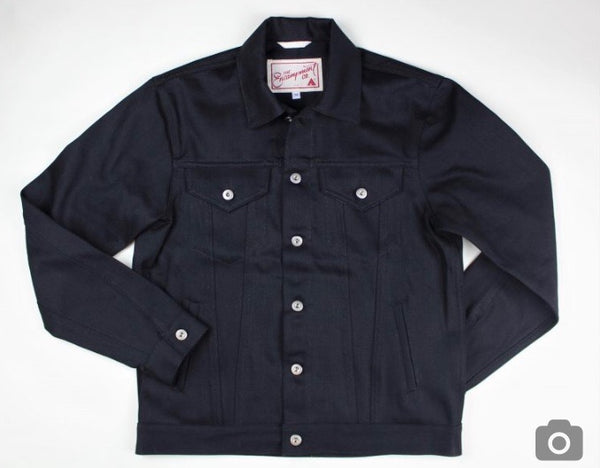 THE 30-30: SELVEDGE BLACK DENIM JACKET