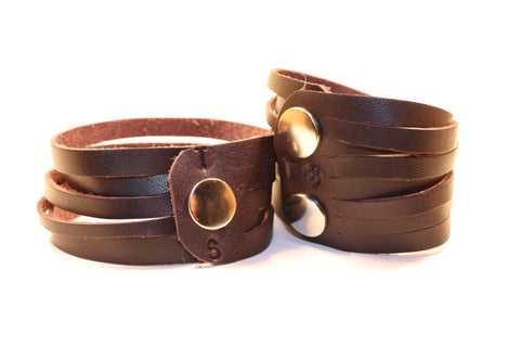 Thick Skin Leather Cuffs