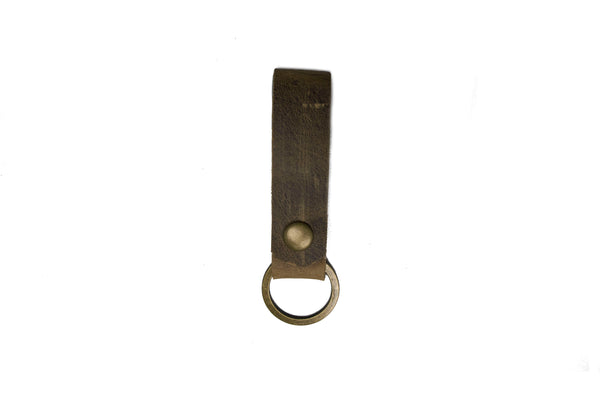 Thick Skin Leather Snap Key Fob