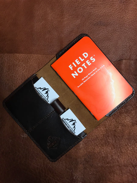Mtn. Face Leather Field Notes Wallet Brown