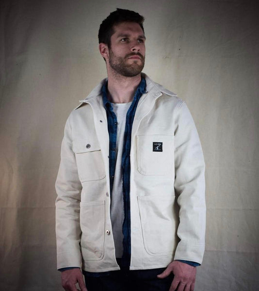 50% OFF: LC King White Drill Chore Coat
