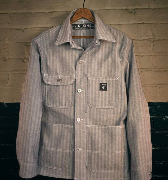 50% OFF: LC King Fisher Stripe Chore Coat