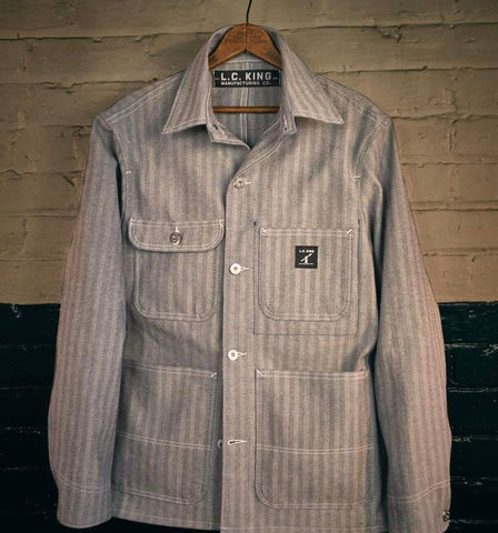 LC King Fisher Stripe Chore Coat