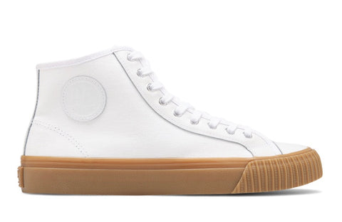 PF Flyer Center Hi: White w/ Gum Sole