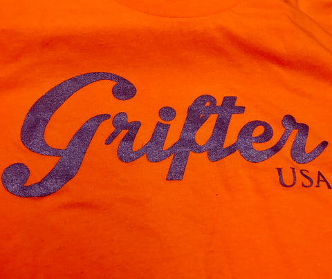 Limited Edition Logo Tee: Orange Metal Flake Purple