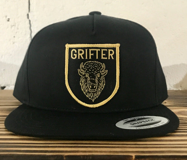 Bison Patch Snap Back: Black